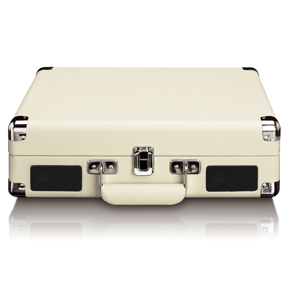 Classic Phono TT-11WH Suitcase turntable with Bluetooth - Built-in speakers - White