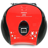 Lenco SCD-24 Red/Black - Portable stereo FM radio with CD player - Red-black