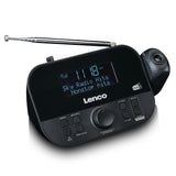 Lenco CR-615BK - DAB+ and FM radio with Time projection - Black