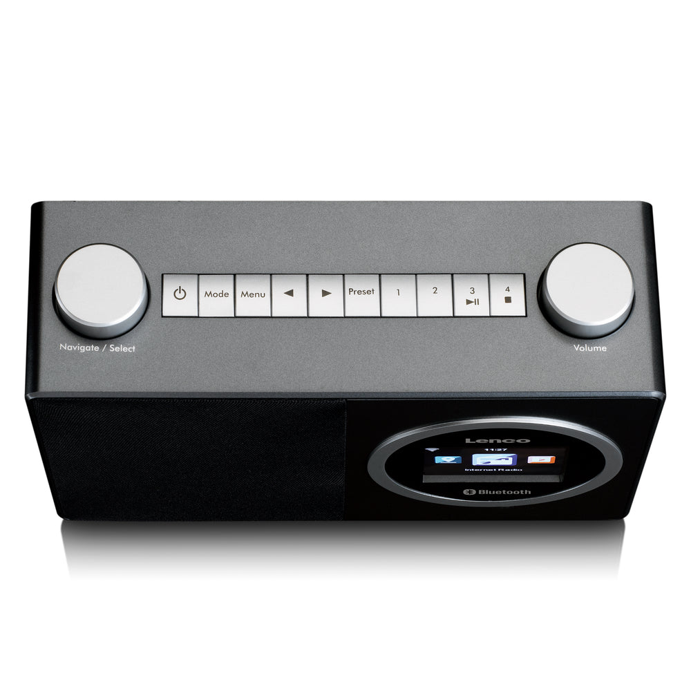 Lenco DIR-70BK - Internet radio with colour display and Bluetooth - Black
