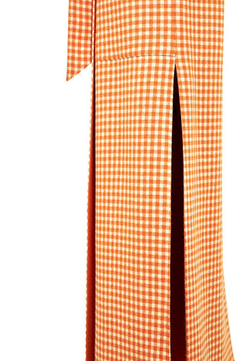 The Vest Orange Check
