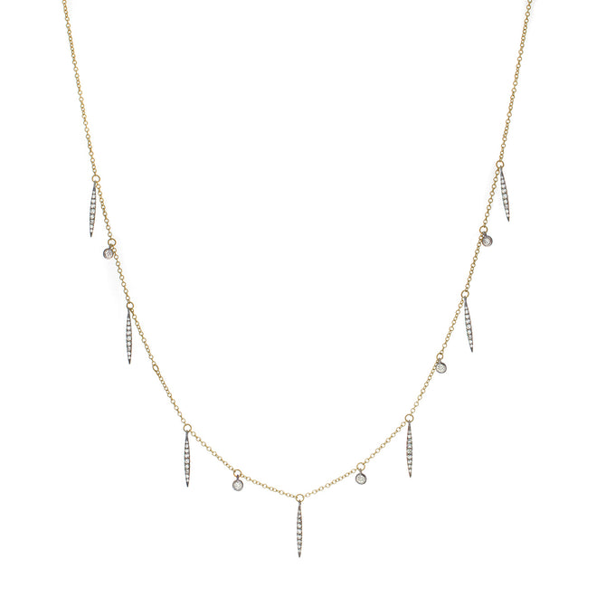 The Diamond Leaf Necklace