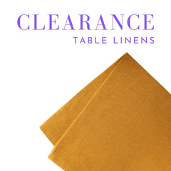 Clearance - Table Linens