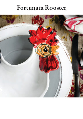 Fortuna Rooster Dinnerware Collection