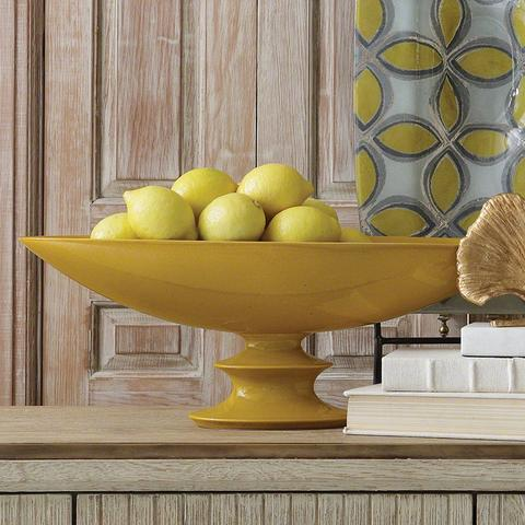 Elliptical Compote - Solar - Color Scheme Monday - Subtle Fall Leaves - Pezzo Bello Interiors