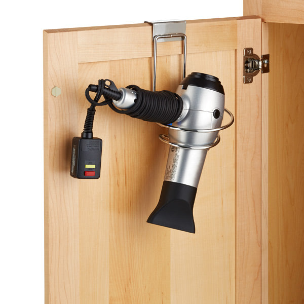 Most of women could use this holder. Keep your blow dryer out of site but easy to access. This over the door holder does just that.