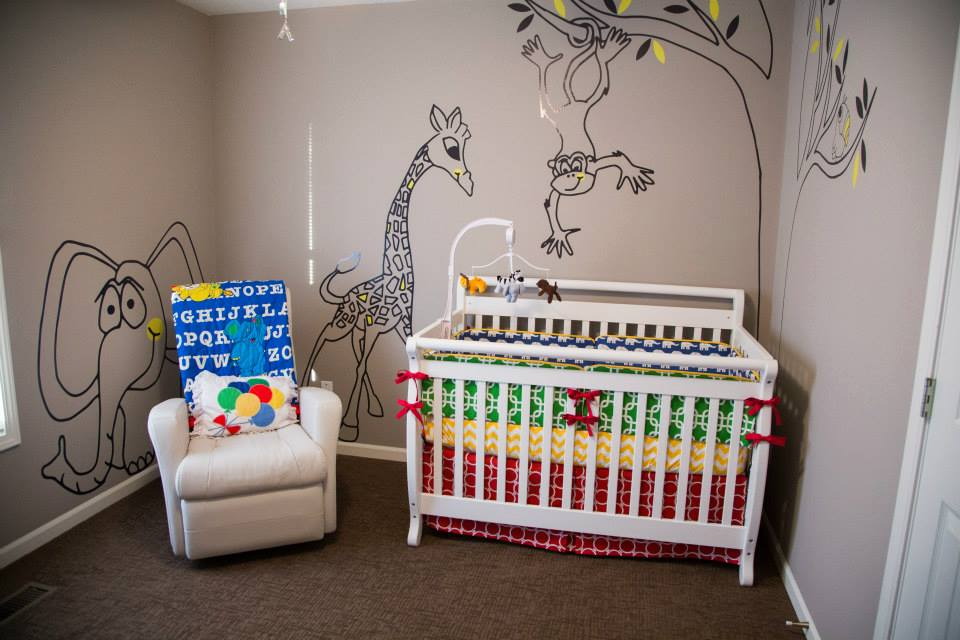 Baby Boy Jungle Nursery - Pezzo Bello Interiors