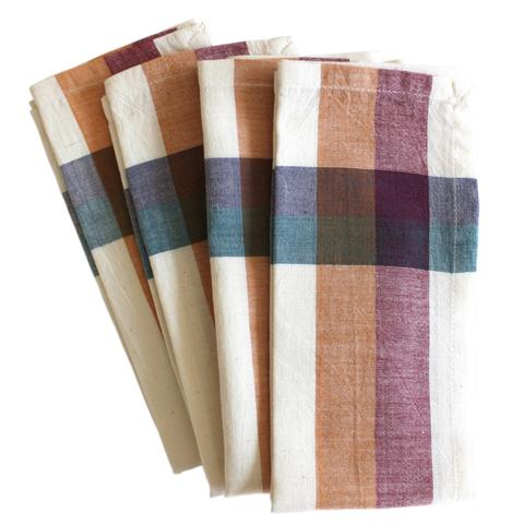 Cinnamon Napkin Set - Color Scheme Monday - Subtle Fall Leaves - Pezzo Bello Interiors