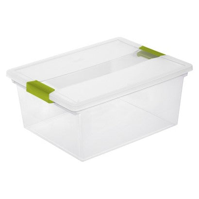 Storage boxes are a great way to keep those smaller items easily accessible. A clear bin is best because you can see what is inside, and with the many sizes and shapes, there is bound to be some that will work for you.
