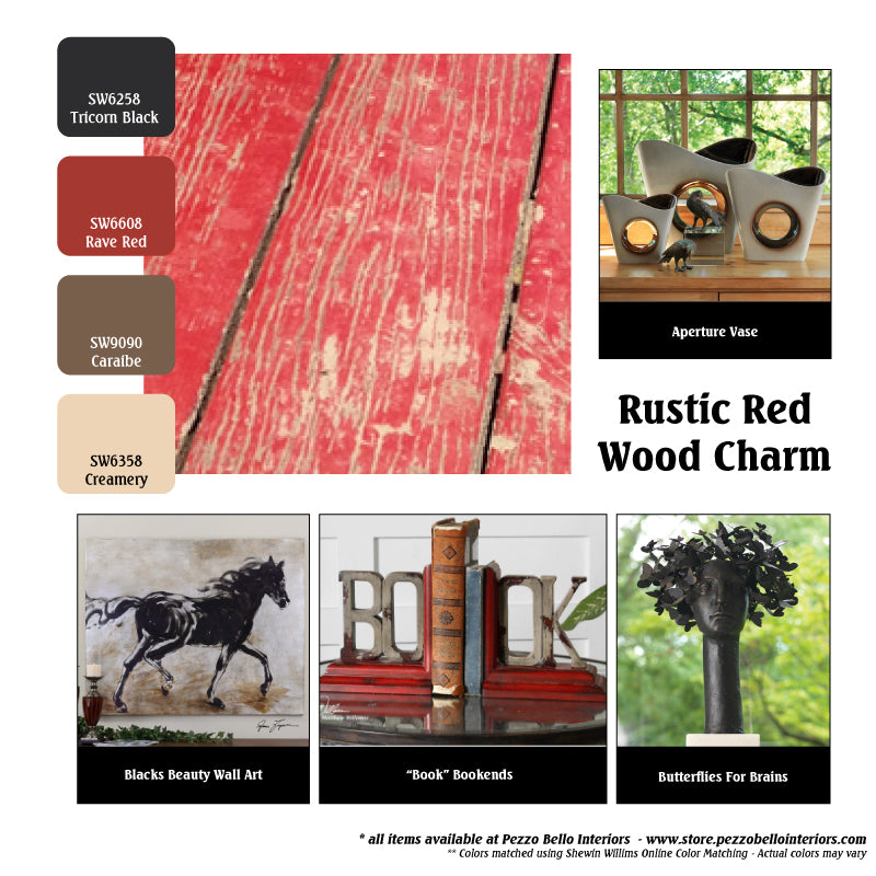 Color Scheme Rustic Red Wood Charm