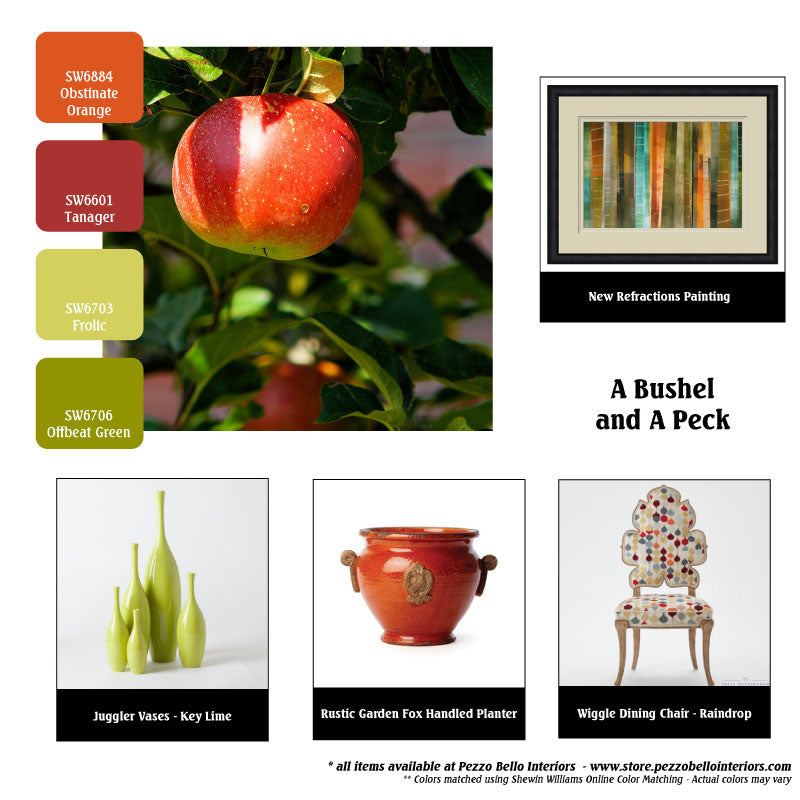 Color Scheme Monday - A Bushel and a Peck - Pezzo Bello Interiors