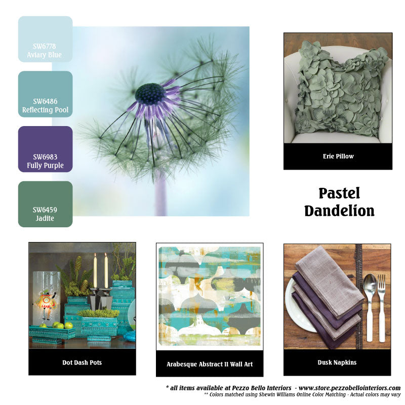 Color Scheme Monday - Pastel Dandelion - Pezzo Bello Interiors