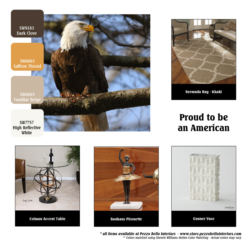 Color Scheme Monday - Proud to be an American - Bald Eagle - Pezzo Bello Interiors