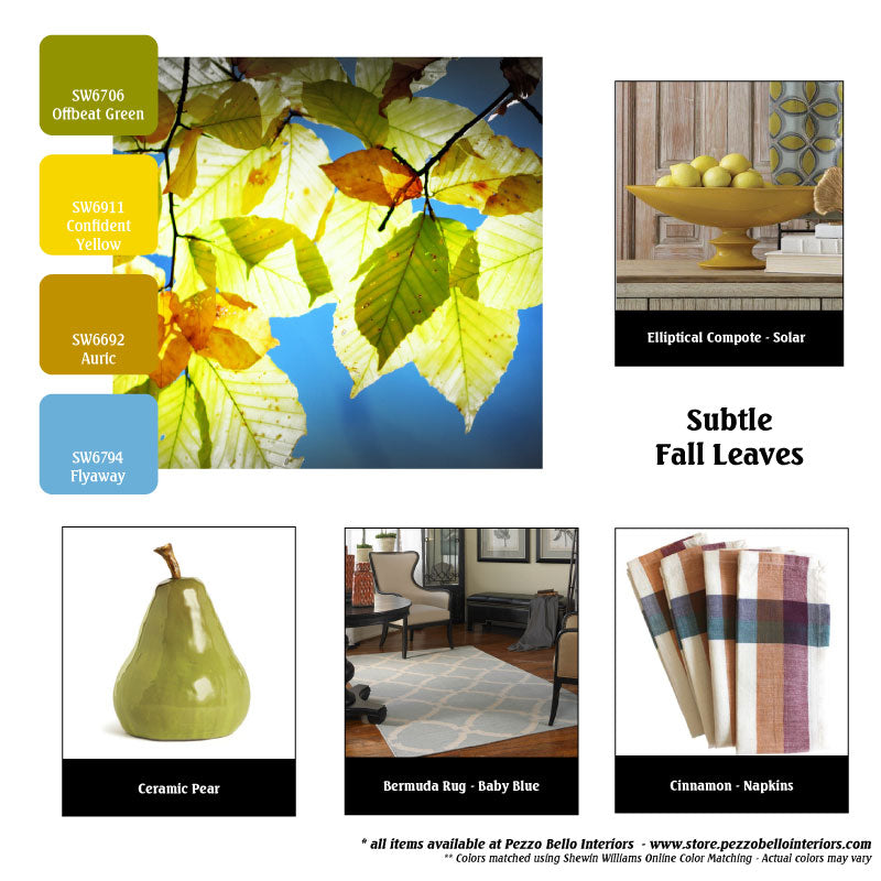 Color Scheme Monday - Subtle Fall Leaves - Pezzo Bello Interiors
