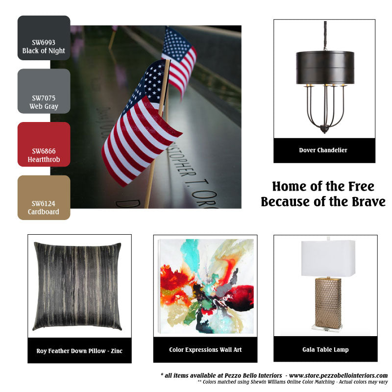 Color Scheme Monday - Home of the Free because of the Brave - Pezzo Bello Interiors