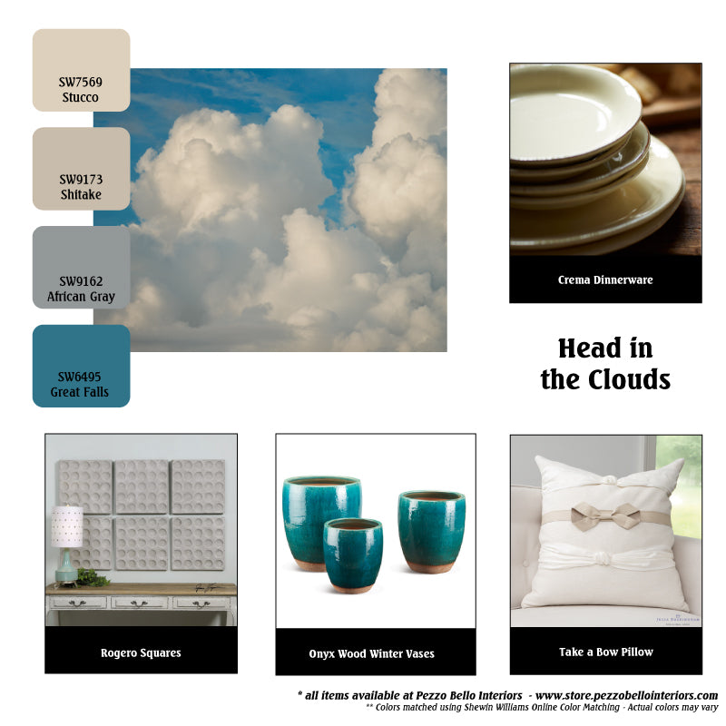 Color Scheme Monday - Head in the Clouds - Pezzo Bello Interiors