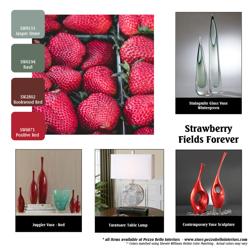 Color Scheme Monday - Strawberry Fields Forever - Pezzo Bell Interiors