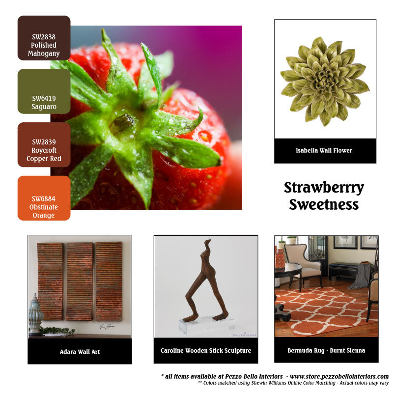Color Scheme Monday - Strawberry Sweetness - Pezzo Bello Interiors