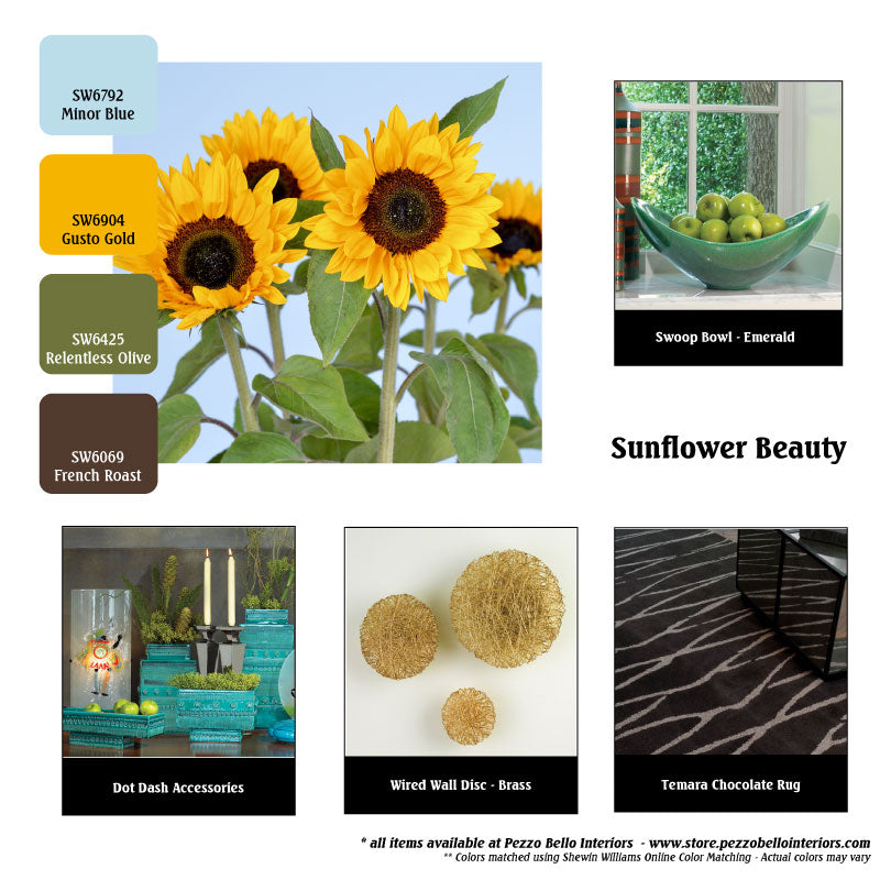 Color Scheme Monday - Sunflower Beauty - Pezzo Bello Interiors