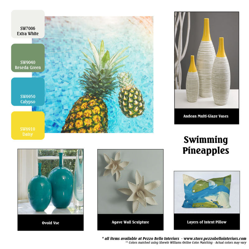 Color Scheme Monday - Swimming Pineapples - Pezzo Bello Interiors
