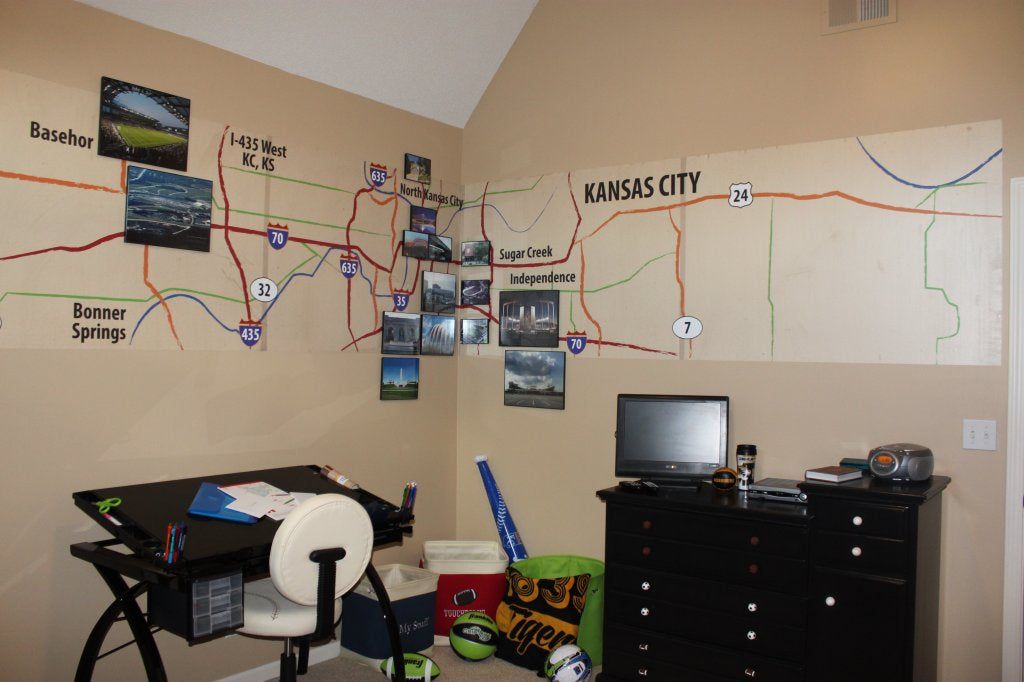 Custom Map Wall Decal
