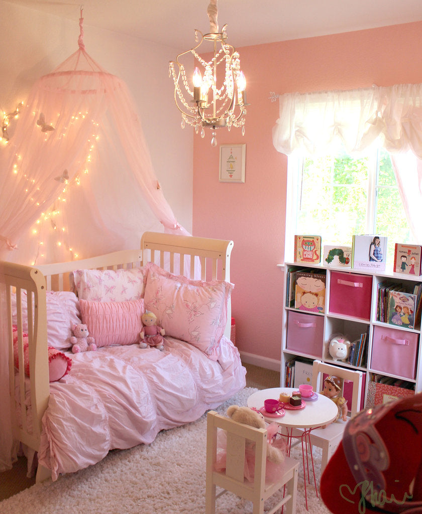 Pink-Princess-Butterfly-Room-Girls
