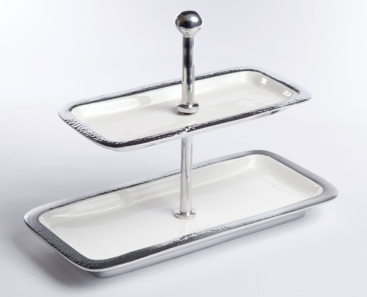 Etro Rectangular 2-Tier Serving Tray - Pezzo Bello Interiors
