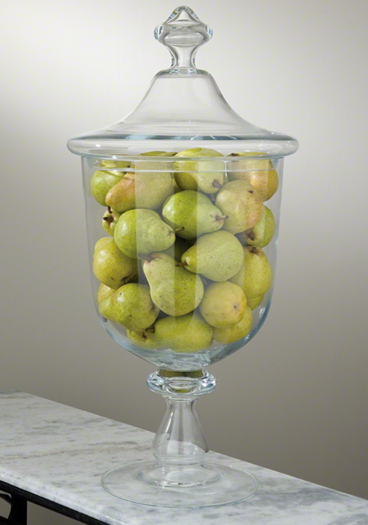 Large Glass Apothecary Jar - Great for displaying items for the season! - Pezzo Bello Interiors