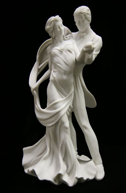 Italian Marble Dancing Couple Statue