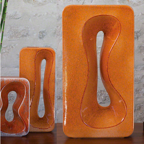 Amoeba Vase - Orange