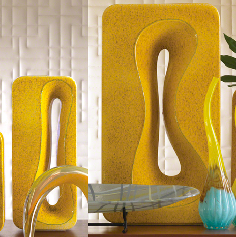 Amoeba Vase - Yellow