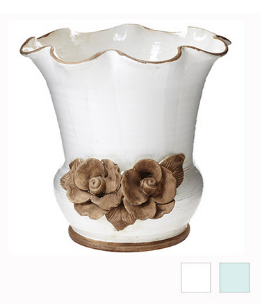 Rustic Garden Scalloped Flower Pot - 2 Colors - Pezzo Bello Interiors