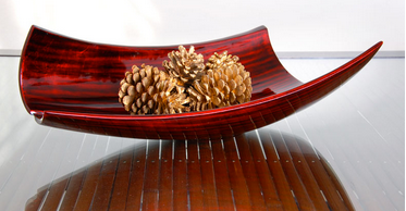 Red Glossy Paper Bowl
