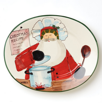 Old St. Nick Oval Platter