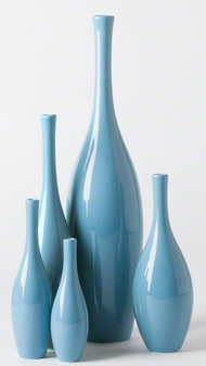 Juggler Vase - French Blue - Pezzo Bello Interiors