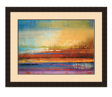Horizons II Framed Painting - Blloming Flowers - Color Scheme Monday - Pezzo Bello Interiors