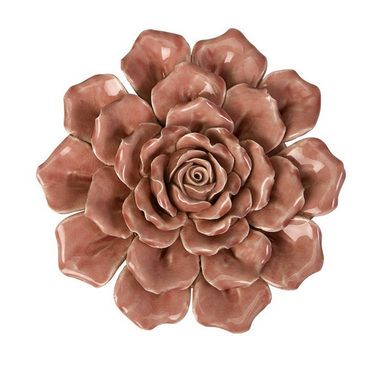 Isabella Ceramic Flower Wall Decor - Blooming Flowers - Color Scmeme Monday - Pezzo Bello Interiors