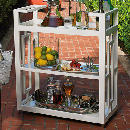 Grid Bar Cart - Man Cave Bar - Stocking Your Bar - Pezzo Bello Interiors