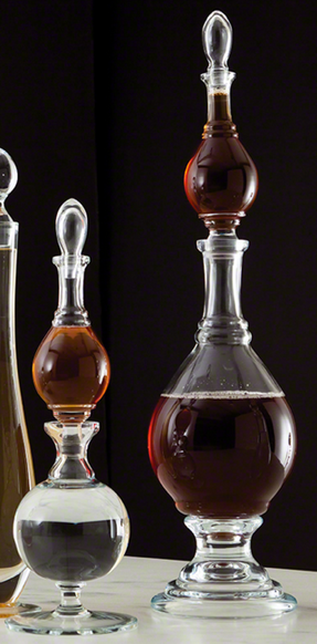 Double Glass Decanter - Man Cave Bar - Stocking the Bar - Pezzo Bello Interiors
