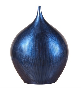 Cobalt Blue Wood Vase - Color Scheme Monday - Taking It To The Streets - Pezzo Bello Interiors