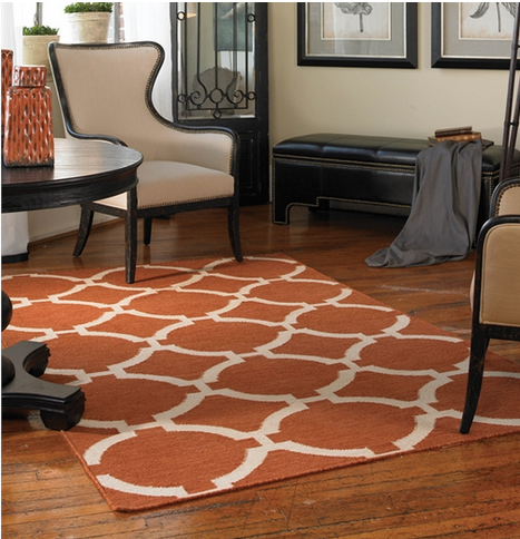 Bermuda Rug - Burnt Sienna - Color Scheme Monday - Strawberry Sweetness - Pezzo Bello Interiors