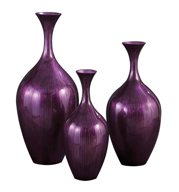 Amethyst Wood Vase - Color Scheme Monday - Hummingbird - Pezzo Bello Interiors