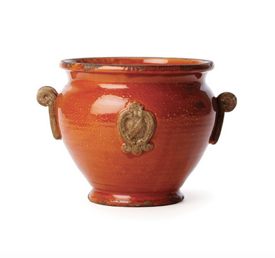 Red Handled Planter - Color Scheme Monday - A Bushel and A Peck - Pezzo Bello Interiors