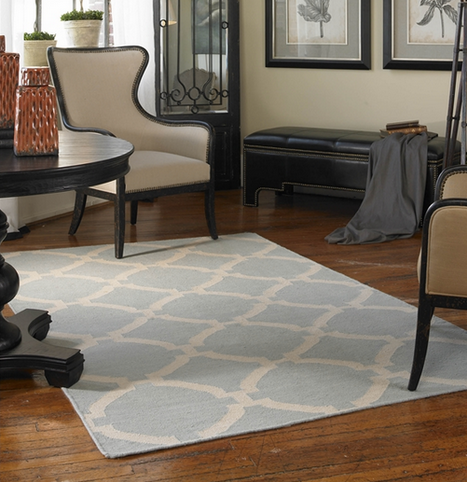 Bermuda Rug - Baby Blue - Color Scheme Monday - Subtle Fall Leaves - Pezzo Bello Interiors