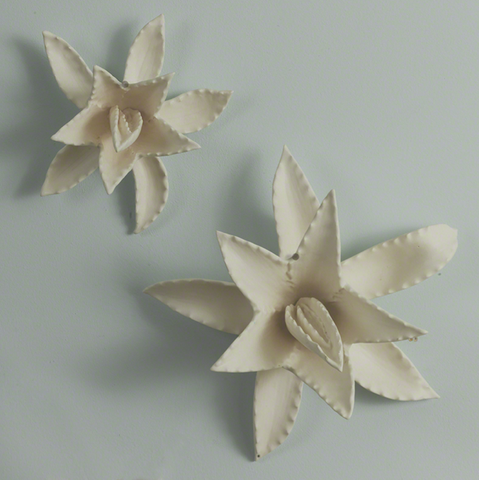 Agave Wall Sculptures - Matte White - Pezzo Bello Interiors