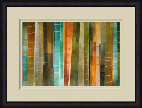 New Refractions II Framed Paiting - Color Scheme Monday - A Bushel and a Peck - Pezzo Bello Interiors
