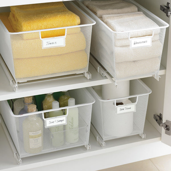 These easy gliding drawers are great for those larger items or a lot of similar items. The easy glide system makes them easy to access - even those back items.