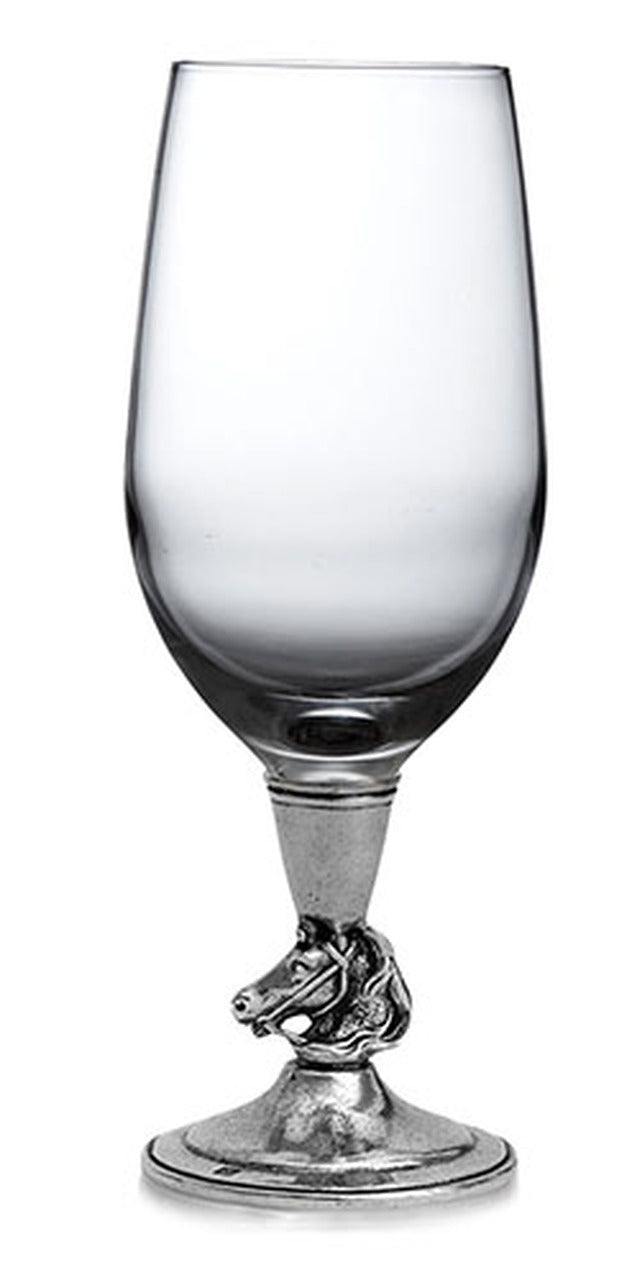 Cavallo Pewter Wine Glass