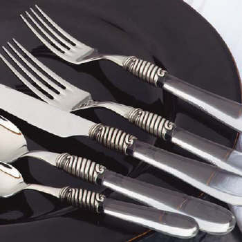 Crystal Clear Salad Forks , Overstock/Clearance - Vietri, Pezzo Bello
