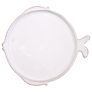 Lastra Fish Dinner Plate - Set of 4 - White